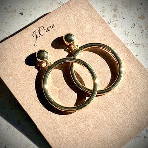 NWT J.Crew Gold Circle Earrings